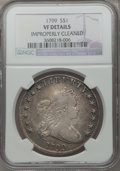 Early Dollars, 1799 $1 7x6 Stars -- Improperly Cleaned -- NGC Details. VF. B-8,BB-165, R.3....