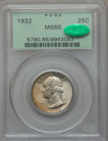 Washington Quarters: , 1932 25C MS65 PCGS. CAC. PCGS Population (550/188). NGC Census:(337/87). Mintage: 5,404,000. Numismedia Wsl. Price for pro...