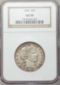 Barber Half Dollars: , 1906 50C AU50 NGC. NGC Census: (6/261). PCGS Population (12/335).Mintage: 2,638,675. Numismedia Wsl. Price for problem fre...