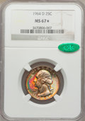 Washington Quarters, 1964-D 25C MS67 ★ NGC. CAC....