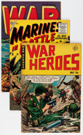 Golden Age (1938-1955):War, Comic Books - Golden Age War Comics Group (Various Publishers, 1950s) Condition: Average GD/VG.... (Total: 9 Comic Books)