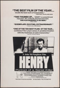 "Movie Posters:Crime, Henry: Portrait of a Serial Killer (Maljack, 1990). One Sheet (27""X 40""). Crime.. ..."