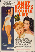 """Movie Posters:Comedy, Andy Hardy's Double Life (MGM, 1942). One Sheet (27"""" X 41"""") StyleC. Comedy.. ..."""