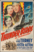 "Movie Posters:War, Thunder Birds (20th Century Fox, 1942). One Sheet (27"" X 41"").War.. ..."