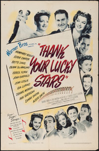 """Thank Your Lucky Stars (Warner Brothers, 1943). One Sheet (27"""" X 41""""). Musical"""