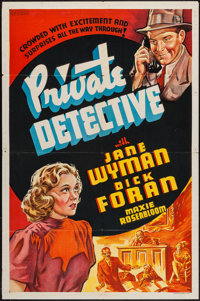 """Private Detective (Warner Brothers, 1939). Other Company One Sheet (27"""" X 41""""). Mystery"""