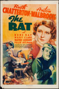 "Movie Posters:Crime, The Rat (RKO, 1937). One Sheet (27"" X 41""). Crime.. ..."