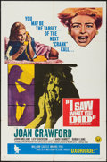 "Movie Posters:Horror, I Saw What You Did (Universal, 1965). One Sheet (27"" X 41""). Horror.. ..."
