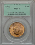 Indian Eagles: , 1912 $10 MS63 PCGS. PCGS Population (936/283). NGC Census:(966/350). Mintage: 405,083. Numismedia Wsl. Price for problem f...