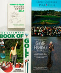 Books:Sporting Books, [Sporting Books]. Group of Four Books Related to Golf and GameFishing. Various publishers, primarily late twentieth century...(Total: 4 Items)