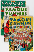 Golden Age (1938-1955):Miscellaneous, Famous Funnies Group (Eastern Color, 1942-55) Condition: Average FN-.... (Total: 5 Comic Books)