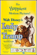 """Movie Posters:Animation, Lady and the Tramp (Buena Vista, R-1962). One Sheet (27"""" X 41""""). Animation.. ..."""
