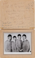 Music Memorabilia:Autographs and Signed Items, The Beatles, Ed Sullivan, and Brian Epstein- Signatures from theirHistoric First American Appearance on the Ed Sullivan Show,...