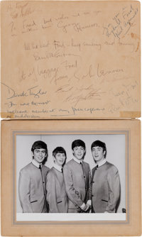 The Beatles, Ed Sullivan, and Brian Epstein- Signatures from their Historic First American Appearance on the Ed Sullivan...