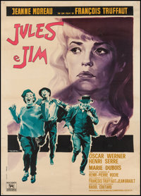 "Jules and Jim (Dino De Laurentiis,1961). Italian 2 - Foglio (38.5"" X 54""). Foreign"