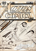 Original Comic Art:Covers, Fred Guardineer Action Comics #15 Superman Cover Original Art (DC, 1939)....