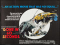 "Movie Posters:Action, Gone in 60 Seconds (New City Releasing, 1974). British Quad (30"" X40""). Action.. ..."
