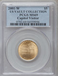 Modern Issues, 2001-W $5 Capitol Visitor's Center Half Eagle MS69 PCGS. Ex: U.S.Vault Collection. PCGS Population (2798/232). NGC Census:...