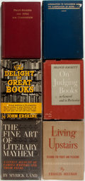 Books:Books about Books, [Books About Books]. Group of Six Books About Books. Various publishers, 1928-1963. Some first editions, most later printing... (Total: 6 Items)