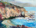 Paintings, RITA HOFFMAN SHULAK (American, 20th Century). Mystic Rose Color Montage Rock, Laguna Beach. Oil on canvas. 11 x 14 inche...