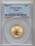 Modern Bullion Coins, 2006-W $10 Quarter-Ounce Gold Eagle MS69 PCGS. PCGS Population(4677/1272). NGC Census: (3977/4377). Numismedia Wsl. Price...