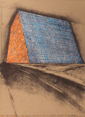 Prints:Contemporary, CHRISTO (American, b. 1935). Texas Mastaba, Project for 500,000stacked oil drums (from the portfolio America: The...