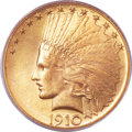 Indian Eagles, 1910 $10 MS65 PCGS. CAC....