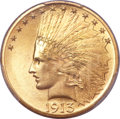Indian Eagles, 1913 $10 MS65+ PCGS. CAC....