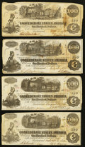 Confederate Notes:1862 Issues, T39 $100 1862 Two Examples. T40 $100 1862 Six Examples.. ...(Total: 8 notes)