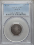 Early Dimes: , 1798 10C Large 8 AG3 PCGS. PCGS Population (3/65). NGC Census:(0/66). Mintage: 27,550. Numismedia Wsl. Price for problem f...