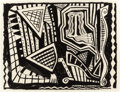 Fine Art - Work on Paper:Drawing, DANNY WILLIAMS (American, b. 1950). Untitled, 1988. Ink onpaper. 28-1/2 x 22 inches (72.4 x 55.9 cm) (sheet). FROM TH...