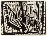 DANNY WILLIAMS (American, b. 1950) Untitled, 1988 Ink on paper 28-1/2 x 22 inches (72.4 x 55.9 cm