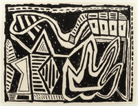 DANNY WILLIAMS (American, b. 1950) Untitled, 1988 Ink on paper 22 x 29 inches (55.9 x 73.7 cm) (s