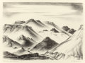 Prints, COREEN MARY SPELLMAN (American, 1905-1978). Big Bend, Near Terlingua, Texas, 1947. Lithograph. 8-7/8 x 12-1/8 inches (22...