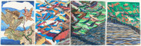 CARROLL SWENSON-ROBERTS (American, 20th Century) Leaves, 1995 Colored pencil on paper 8-1/2 x 6-3