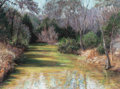 Fine Art - Work on Paper:Drawing, GAMBLE WHITEHEAD (American, 20th Century). Gatlin Creek,Georgetown, Texas, 1997. Pastel on paper. 29 x 39 inches (73.7...