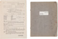 Music Memorabilia:Memorabilia, How I Won the War Film Script, Thought to be John Lennon's Working Copy, with Film Call Sheet. ...