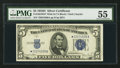 Small Size:Silver Certificates, Fr. 1654* $5 1934D Wide II Silver Certificate Star. PMG About Uncirculated 55.. ...