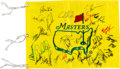 Golf Collectibles:Autographs, 2000's Masters Signed Flag With Tiger Woods. ...