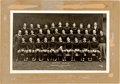 Football Collectibles:Others, 1910 Notre Dame Fighting Irish Gold Football Pendants and 1924 Original Oversized Team Photograph....