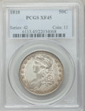 Bust Half Dollars: , 1818 50C XF45 PCGS. PCGS Population (110/407). NGC Census:(79/380). Mintage: 1,960,322. Numismedia Wsl. Price for problem ...