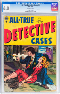 All-True Detective Cases #4 (Avon, 1954) CGC FN 6.0 Off-white pages