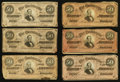 Confederate Notes:1864 Issues, T66 $50 1864 Fifteen Examples.. ... (Total: 15 notes)