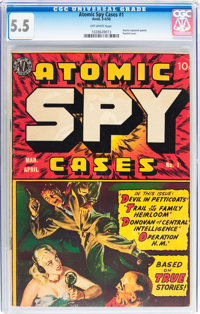 Atomic Spy Cases #1 (Avon, 1950) CGC FN- 5.5 Off-white pages
