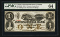 Canadian Currency: , Toronto, CW- The International Bank of Canada $1 September 15, 1858Ch. # 380-10-08-08. ...