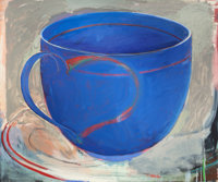 CHRISTOPHER BROWN (American, b. 1951) Blue Cup, 1981 Oil on canvas 61 x 73 inches (154.9 x 185.4