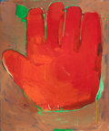 Post-War & Contemporary:Contemporary, CHRISTOPHER BROWN (American, b. 1951). First Mitt, 1980. Oilon canvas. 73-1/4 x 61-1/4 inches (186.1 x 155.6 cm). Signe...