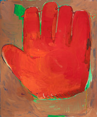 CHRISTOPHER BROWN (American, b. 1951) First Mitt, 1980 Oil on canvas 73-1/4 x 61-1/4 inches (186