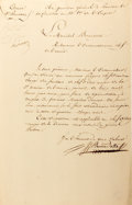 "King Charles XIV John of Sweden and Norway Document Signed ""J. Bernadotte"" as marshal of the French Empire"