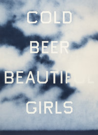 ED RUSCHA (American, b. 1937) Cold Beer Beautiful Girls, 2009 Lithograph in colors 35 x 25 inches